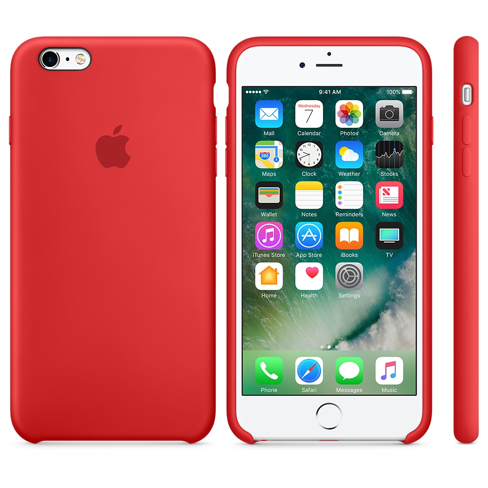 Чехол Apple Silicone Case для iPhone 6 Plus/6s Plus Product (Red) OEM