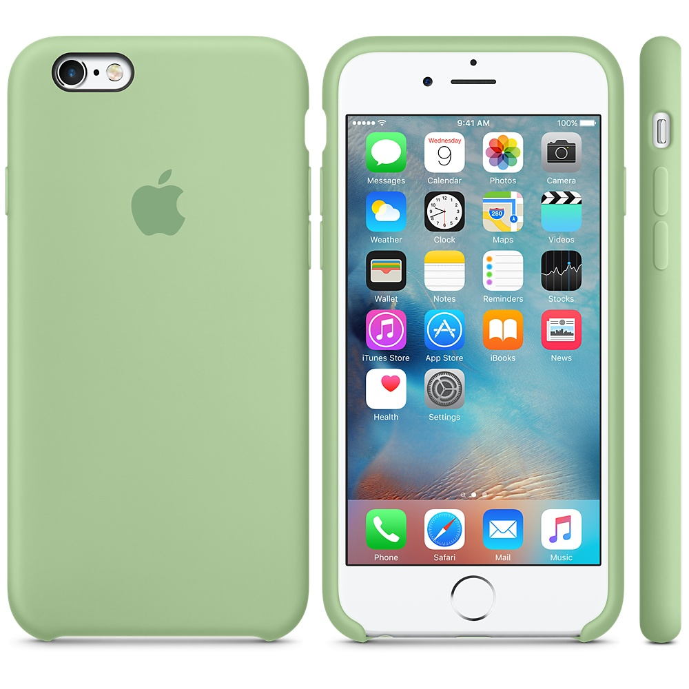 Чехол Apple Silicone Case для iPhone 5/5s/SE Mint
