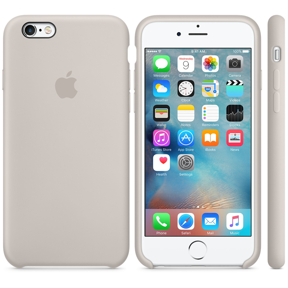 Чехол Apple Silicone Case для iPhone 6 Plus/6s Plus Stone OEM
