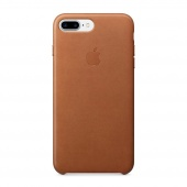 Чехол Leather case для iPhone 7 Plus/8 Plus Brown