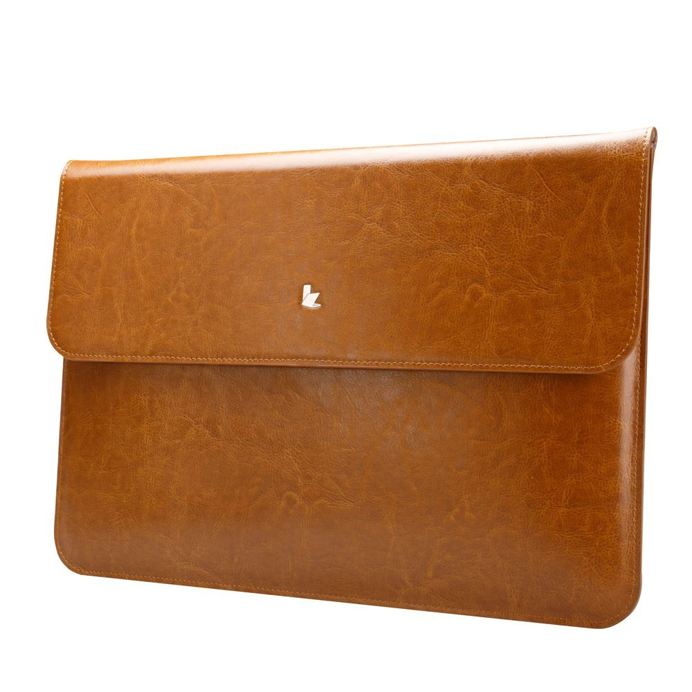 Чехол-конверт Jisoncase для Macbook Air 13 Leather Brown