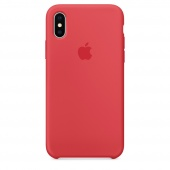 Чехол Apple Silicone Case для iPhone X Red Raspberry OEM (MRG12)