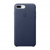 Чехол Leather case для iPhone 7 Plus/8 Plus Midnight Blue