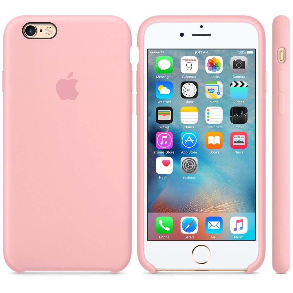 Чехол Apple Silicone Case для iPhone 5/5s/SE Pink