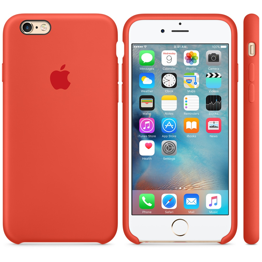 Чехол Apple Silicone Case для iPhone 5/5s/SE Orange