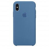 Чехол Apple Silicone Case для iPhone X Denim Blue OEM