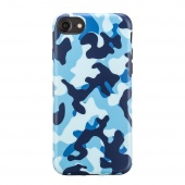 Чехол для iPhone 7 Plus/8 Plus Camouflage Blue Woodland