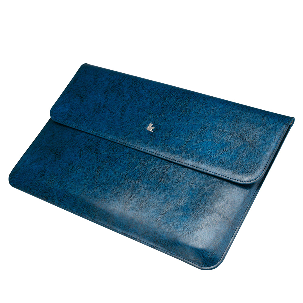 Чехол-конверт Jisoncase для Macbook Pro 13 Retina Leather Blue